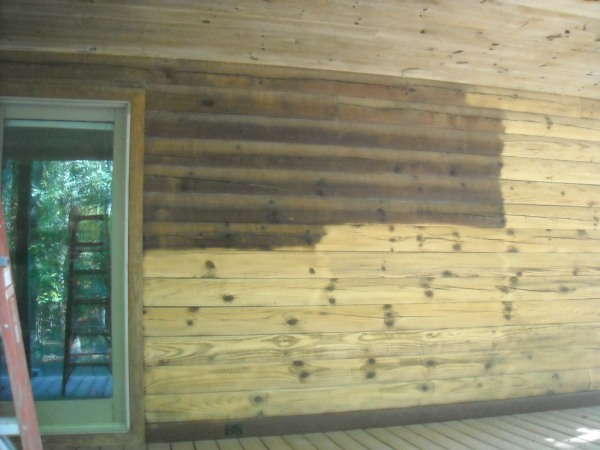 NuTech Soda Blasting Log House