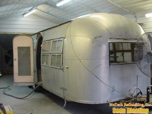Aluminum Airstream Stripping with sodablasting
