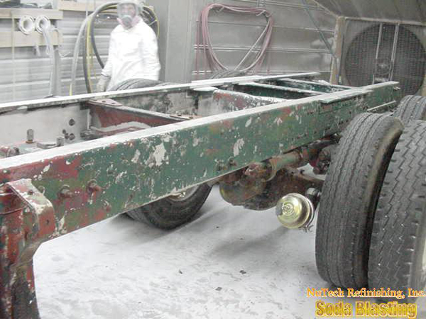 removing paint and rust from an aluminum body kenworth