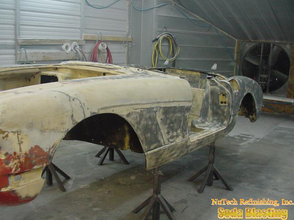 body stripping 58 Corvette
